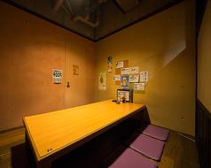 7名~9名様用の掘りごたつ個室。最大11名入った実績あり。2部屋つながったお部屋で、つなげると15名~18名様用の個室となります。