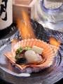 料理メニュー写真数量限定!炎のヒオウギ貝