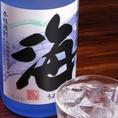 【15種類の焼酎飲み放題コース4500円の一例】