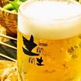 土間土間のビールは【アサヒビール】!