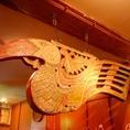 バリ島には様々な鳥が生息しています。その中でも一番有名なのはこの「オオハシ」。いろんな装飾品のモチーフとして使われています♪