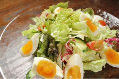燻製卵の和風サラダ