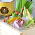 料理メニュー写真彩り野菜の農園バーニャーカウダ