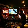 TiTOでスポーツ観戦も出来ちゃいます!スクリーンでみんなでワイワイ一緒に応援しちゃいましょう♪お酒とおつまみも一緒にどうぞ♪