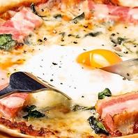 こだわり料理…PIZZAやパスタ・ガレットなども豊富です