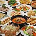 各種宴会でお使い頂ける、福満楼自慢の食べ飲み放題コース!!ご予約は4名様~承っております!!10名様以上でなんと『北京ダック』半羽サービス♪