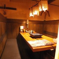 【1Fテーブル半個室】間仕切りで気兼ねなく愉しめます。6名様