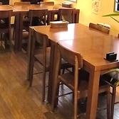 4名掛けテーブル席
