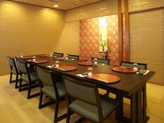 【1階】光琳…テーブル席の個室です。お顔合わせや接待に人気です。