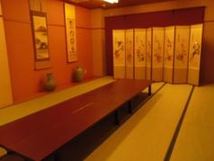 個室のお部屋は、7.5畳~最大45畳までの5部屋あり。