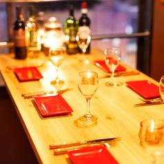 他にはない広々雰囲気席を完備!雰囲気抜群のお席なので、ご友人とのお食事はもちろん、デートや合コンにもご利用いただけます♪