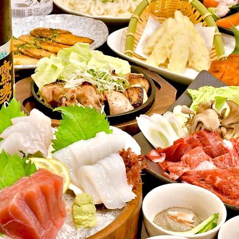 まつなが牛すき焼き&陰岐の岩牡蠣付き 料理9品 山陰贅沢コース☆2時間飲み放題付き5000円(税込)
