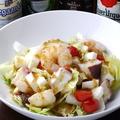 料理メニュー写真海老とタコと長芋のサラダ