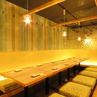札幌での団体宴会に対応♪全席掘りごたつ完備の寛ぎ個室