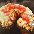 料理メニュー写真バジルトマトお好み焼き