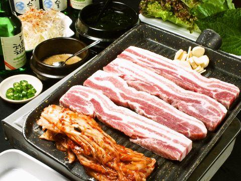 梅田でサムギョプサルを堪能!ランチや食べ放題な …