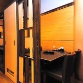 2名~4名様でご利用いただけるテーブル席はプライベート感たっぷりの個室空間♪
