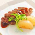 料理メニュー写真京都ぽーくの炙り焼き バルサミコソース