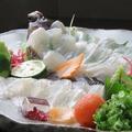 料理メニュー写真カレイ(刺身)