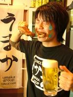 ビール×骨付き鳥♪
