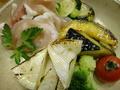 料理メニュー写真生ハムと旬野菜の焼カマンベールチーズ