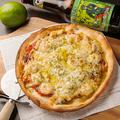料理メニュー写真シーフードバジルマヨピザ
