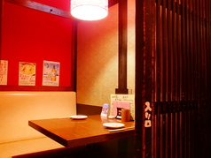2名様用の個室は全5室。密会に最適です。