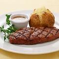 料理メニュー写真リブロースステーキ (140g) (サラダバー・ドリンクバー付き)