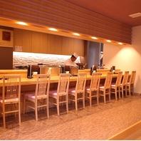 目の前で職人が握る本格寿司をカウンター席で愉しむ♪