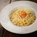 料理メニュー写真生パスタの特製ウニボナーラ
