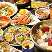 名駅の居酒屋で新鮮な食材を使ったコース!