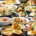 大阪梅田・お初天神で人気の個室居酒屋「はちまる」はなんといっても食べ飲み放題が一番人気★お造り、サラダ、創作料理、お肉、魚まで何でもございます♪詳細はコースページをご確認下さい!