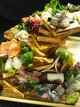 料理メニュー写真豪華!鮮魚10点階段盛!