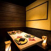 普段使い、友人との飲み会など、少人数でのご宴会にも最適な個室です。ドア付き完全個室は周りを気にせずご宴会をお楽しみいただけます。また、プライベート性抜群のお部屋は、会社宴会や打ち上げ、合コンや女子会など、盛り上がる宴会にもピッタリ!【梅田個室肉バル 仙波 梅田店】