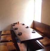 窓際の掘りごたつの個室です。