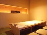 こちらは扉ありのタイプの個室。4名から最大10名までの4タイプご用意しております。