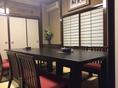 【2F】8名様までご利用いただけるテーブル席です。ご利用シーンに合わせて壁を取り払い、大人数での宴会も可能となっておりますので、お気軽に店舗へお問合せください。