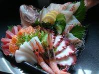 厳選した鮮魚が味わえる!