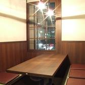 4名様掛け半個室です!お店の奥にありますので周りを気にせずお食事 楽しんでいただけます!お席の時間が長めで余裕がある際は是非お問い合わせ下さい!