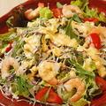 料理メニュー写真えびとアボカドのタルタルサラダ