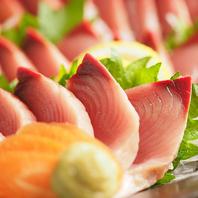 ●獲れたてのお魚は抜群の鮮度で旨味たっぷり!