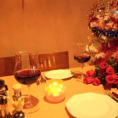 【デートにも…♪】実はデート使いも人気。カジュアルなデートからクリスマス等の特別な日にも◎2人だけの空間を演出します