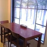 外の景色を眺めながらお食事を頂ける特別席