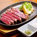料理メニュー写真ビーフステーキ(わさびとヒマラヤ岩塩)200g