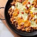 料理メニュー写真4種のチーズパエリア