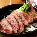 料理メニュー写真極上ロースのレアステーキ  120g