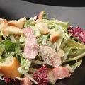 料理メニュー写真鴨スモークのシーザーサラダ(レギュラー/スモール)