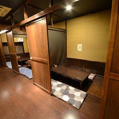 2F掘りごたつ個室※パーテーションでアレンジ自在です!