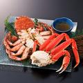 料理メニュー写真毛蟹とずわい蟹の食べ比べ