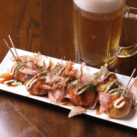 拝島駅チカ!おいしいたこ焼き、もんじゃが食べられる居酒屋です♪